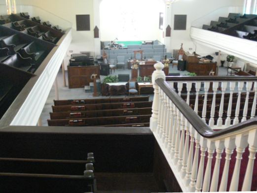 Court Street Baptist Church balcony